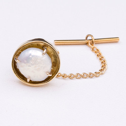 18k Mabe Pearl Tie Tack GD-0445