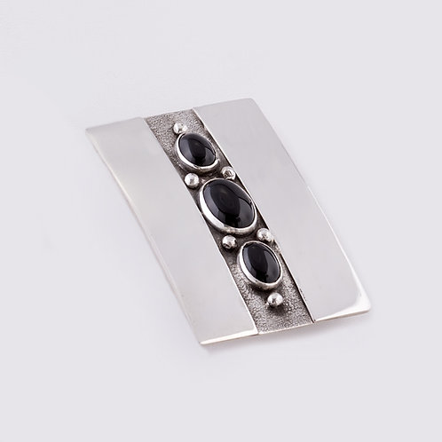 SOLD Sterling Silver Carlos Diaz Overlay Onyx Buckle