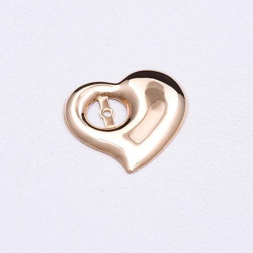 14KT Yellow Gold Heart Earring Shields GD-0288