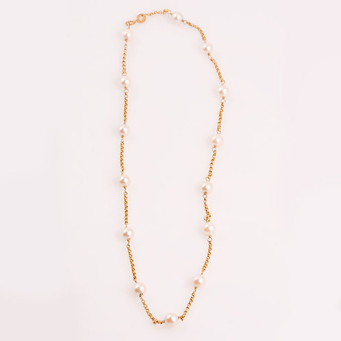14k Pearl Necklace CC-0202