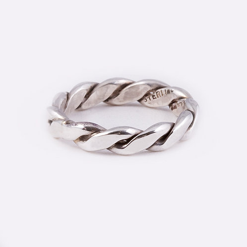 Sterling Flat Rope Ring RG-0339