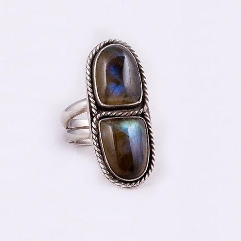 Sterling Carlos Diaz Labadorite Ring RG-0204
