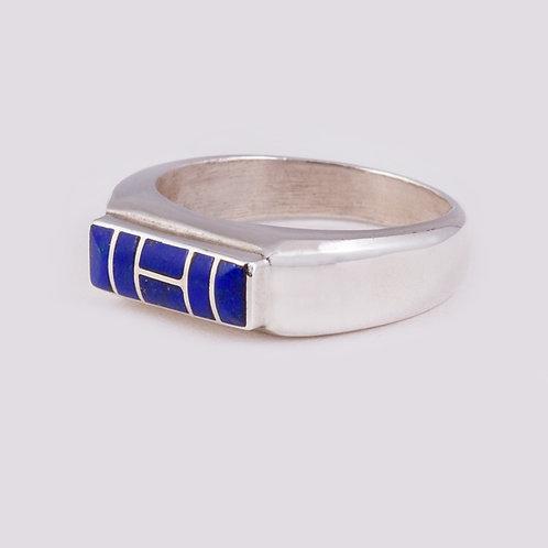 SS Zuni Lapis Inlay Ring RG-0385