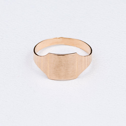 14KT Yellow Gold Signet Ring GD-0357