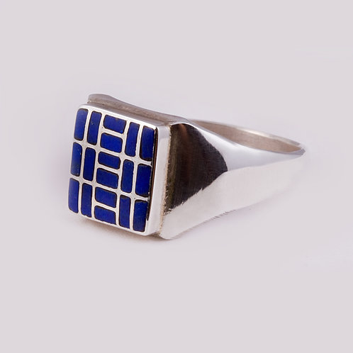 SS Zuni Lapis Inlay Ring RG-0386