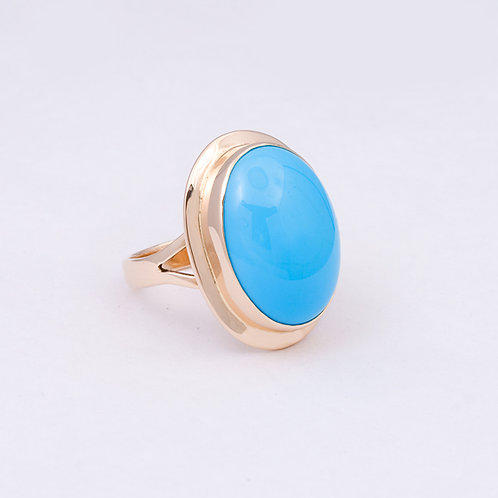 14k CD Sleeping Beauty Turquoise  Ring GD-0094