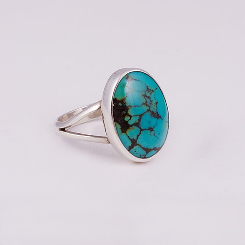 Sterling Carlos Diaz  Turquoise Ring RG-0172