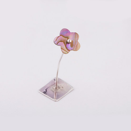 Sterling Abalone Flower Decor MI-0004
