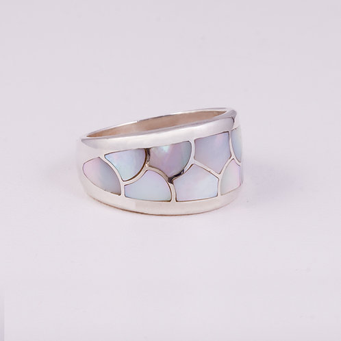 Sterling CD Mother of pearl ring RG-0184