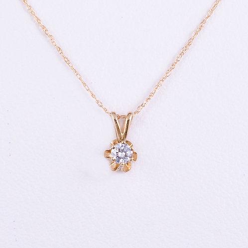 14KT Diamond Pendant GD-0183