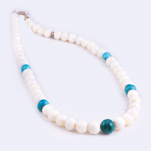 Mother of Pearl and Turquoise necklace NK0046