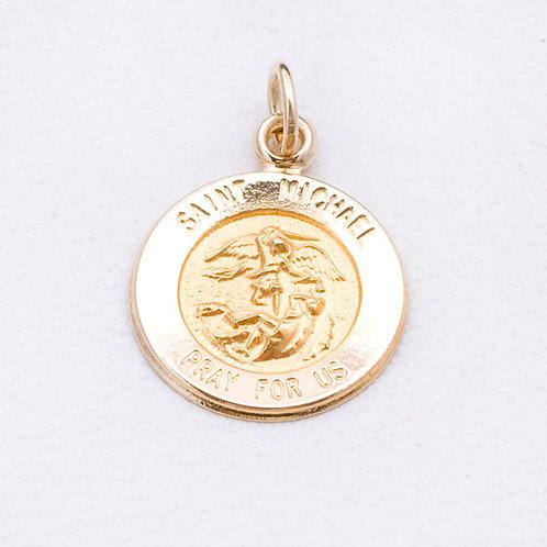 14KT Yellow Gold  St. Michael Pendant GD-0308