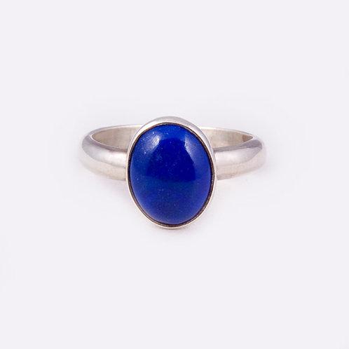 Sterling Navajo Lapis Ring RG-0262