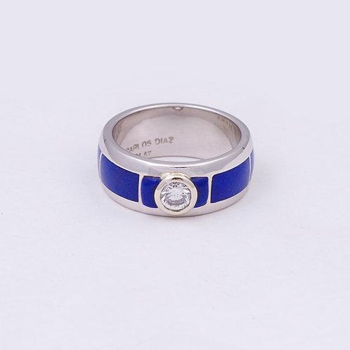 CD Platinum/Diamond Charm Circle Ring GD-0054