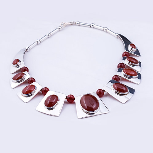 Sterling CD Carnelian Egyptian Necklace