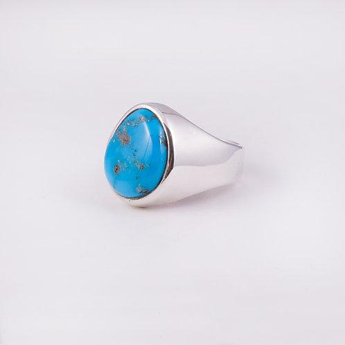 Sterling Carlos Diaz Turquoise Ring RG-0140