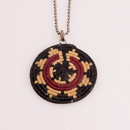 Papago basket weave pendant Con# 519176 CC-0197