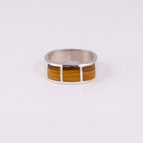 Sterling Silver CD Tiger Eye Ring RG-0190