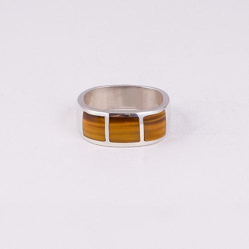 Sterling Silver CD Tiger Eye Ring RG-0190