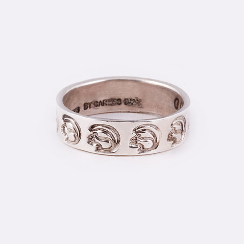 Sterling Stamped Ring RG-0333