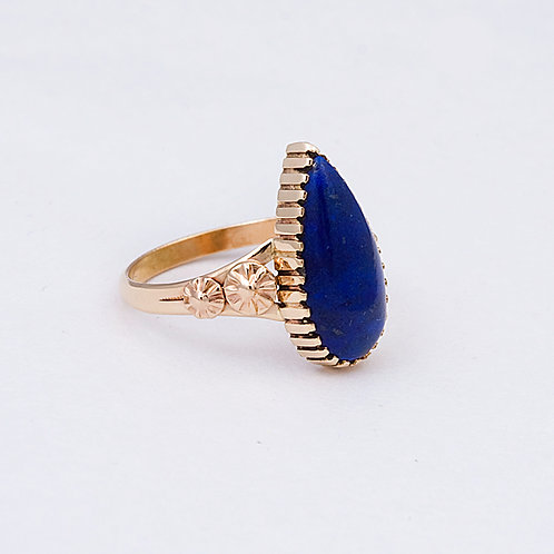 14k Lapis Ring GD-0098