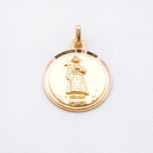 18KT Yellow Gold Saint Medallion GD-0307