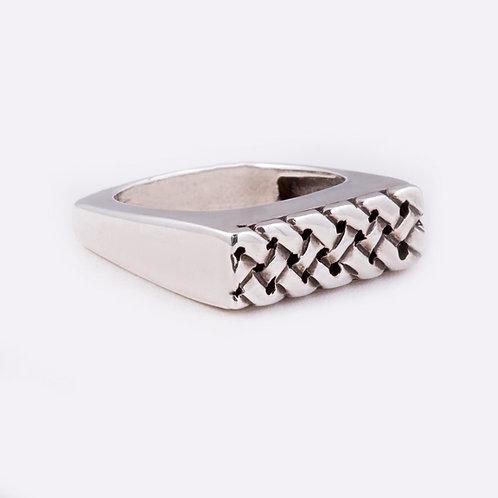Sterling Flat Braid Ring RG-0343