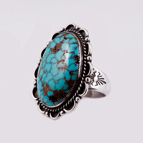 Navajo Sterling Ring with Turq RG-0316