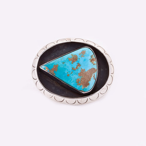 Turquoise Stamped pin CC-0025