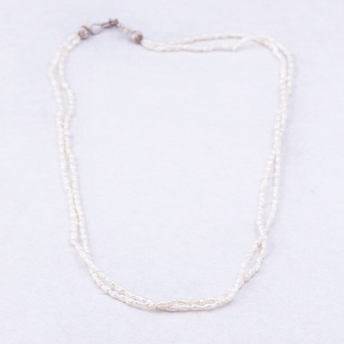 Fresh water pearl double strand necklace