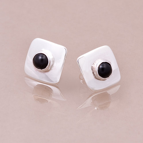 CD STERLING ONYX EARRINGS ER-0336