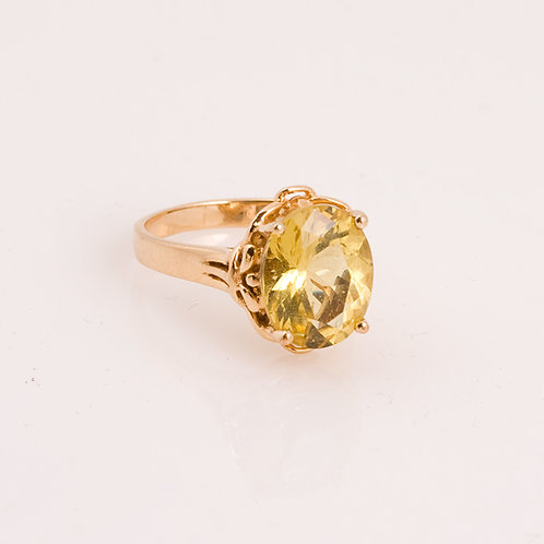 Consignment 14k Golden Beryle Ring CC-0184