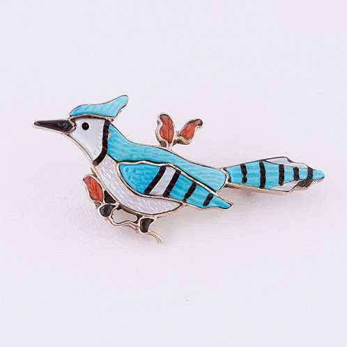 Blue Jay pin/pendant MI-0178