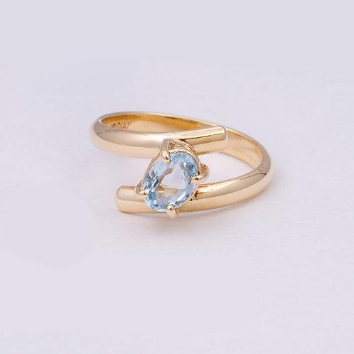 18k Carlos Diaz  Aquamarine Ring GD-0136