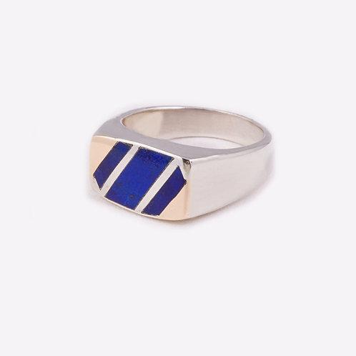 Sterling Silver Carlos Diaz Lapis Ring RG-0179