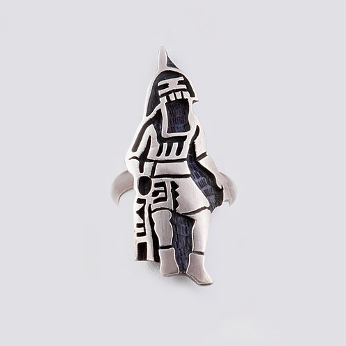 Sterling Silver Hopi Overlay ring