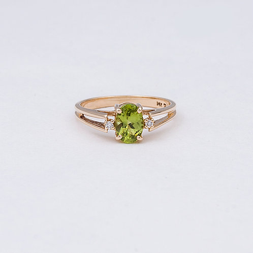 14k Peridot/Diamond Ring GD-0122