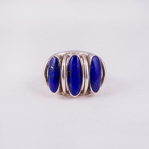 Sterling Silver Carlos Diaz Lapis Ring RG-0202