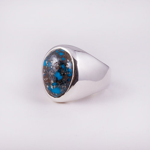 Sterling Carlos Diaz  Turquoise Ring RG-0137