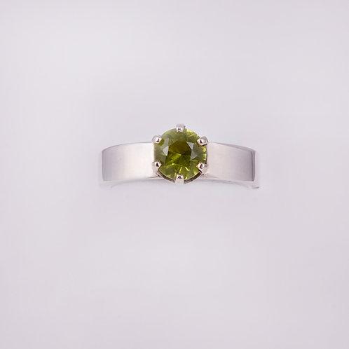 Sterling Silver Carlos Diaz Peridot Ring RG-0196