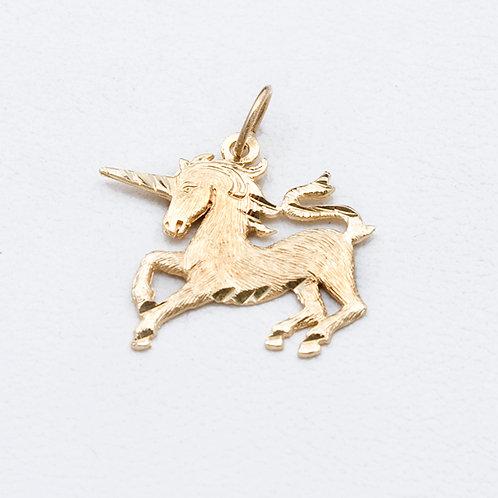 14KT Yellow Gold Unicorn GD-0333