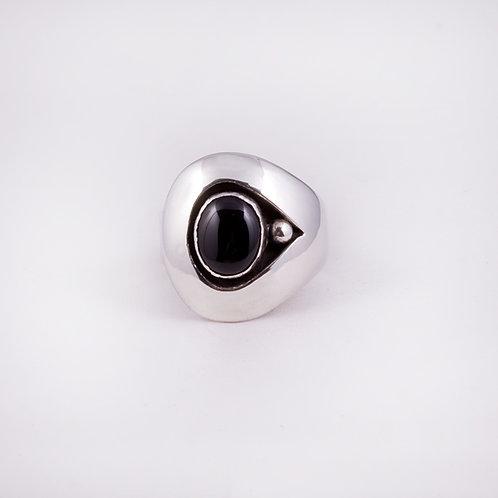 Sterling CD Onyx Shadow Box Ring RG-0145