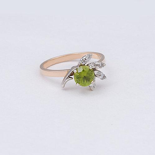 14k Peridot/Diamond Ring GD-0134