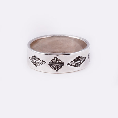 Sterling Stamped Ring RG-0330