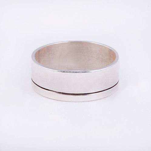 Sterling Silver Navajo chased ring RG-0402