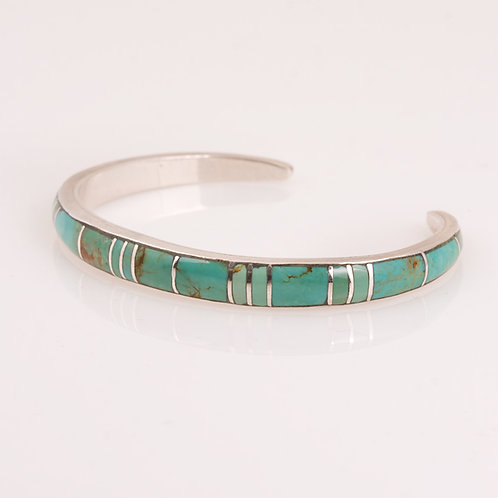 Consignment Sterling Turq Inlay Bracelet CC-0174