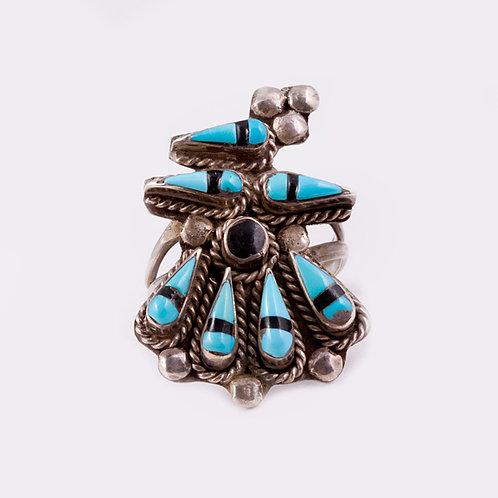 Sterling Silver Zuni Ring RG-0294