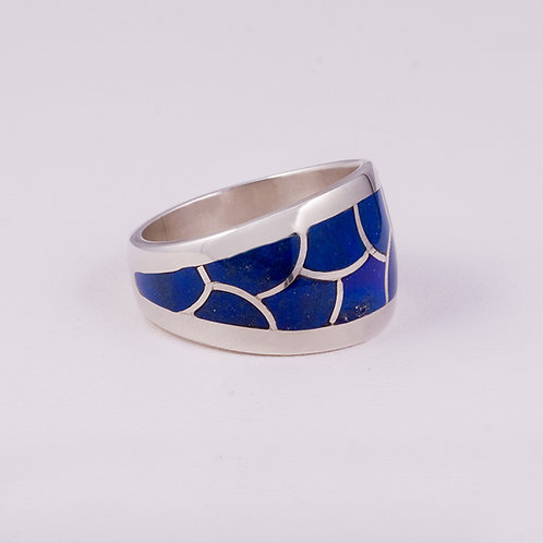 Sterling Silver CD Lapis Ring RG-0185
