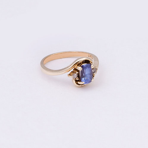 14k Iolite/Diamond Ring GD-0125