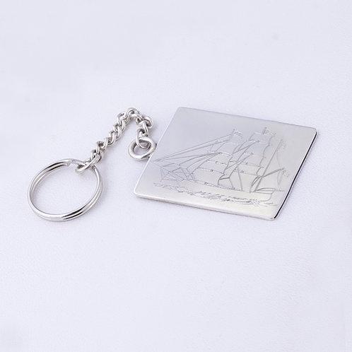 Sterling Silver Carlos Diaz Key Chain MI-0026
